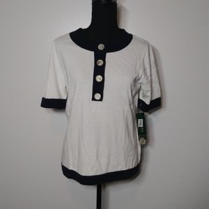 NWT Ralph Lauren Top Buttons Short Sleeve